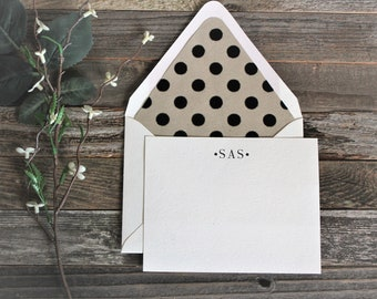 Velvet Simplicity Personalized Stationery Set