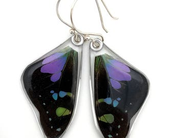 Ultra violet, Pantone color of the year, fairy wings, butterfly gift, butterfly wing, butterfly jewelry, Purple Spotted Swallowtail Earrings