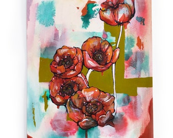 Poppies - Painting on Paper