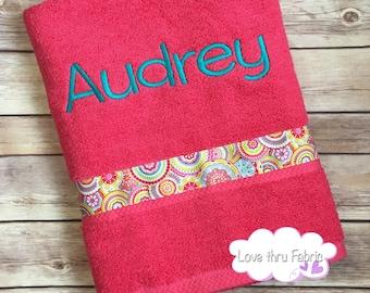 Monogrammed Bath Towel, Personalized Towel, Personalized Swim Towel, Personalized  Bath Towel, Monogrammed