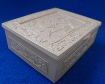 Vintage Trinket Box, Shabby Chic, Metal, Restored, ca 1950s NT-1281