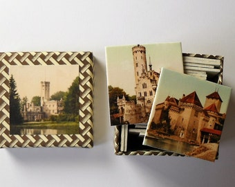 memory game  old pictures castles matching game