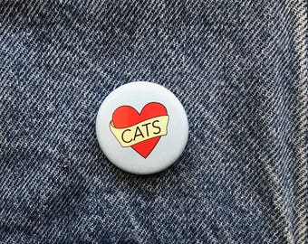 Cat button--pack of 2