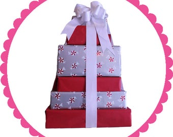 Gourmet Chocolate Gift Tower 8-Ribbon Candy And More!