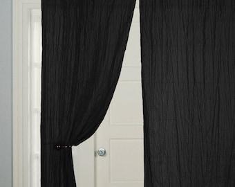 2 Pcs   Window Curtains, Door Curtain, Cotton Curtain, Curtain Panels, All