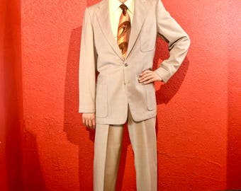1950s Light Pale Brown / Seashell Summer Weight Sports Suit