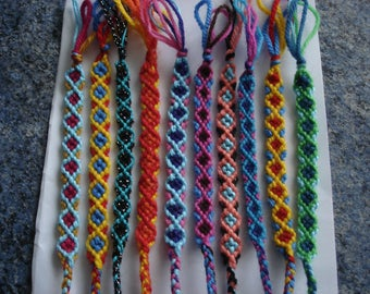 8 sets of bracelets or friendship electives hand
