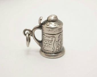 Vintage Sterling Puffy Beer Stein Charm