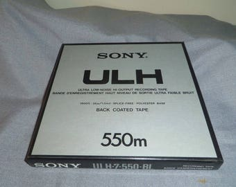 Sony ULH Recording Tape, ULH-7-550-BL, 550 m, Made in Japan, Unused Tape, Open Box