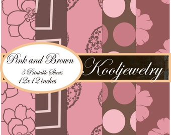 Pink and brown Paper Pack - No. 107