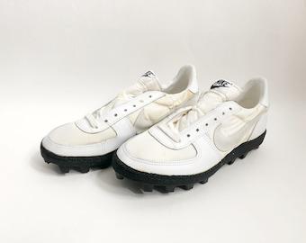 vintage nike shark football cleats shoes big kids size 7.5 deadstock NIB 1982