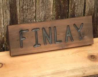 CUSTOM wood  sign -- Dog house or pet name  hand carved -- rustic un painted -- your name or numbers on reclaimed western cedar