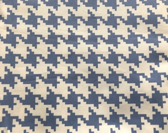 For Your Home by Vicki Payne Houndstooth Blue by the yard - New