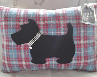Scottie Dog Cushion (sparkly/diamante)