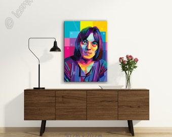Steve o1 personalized gift - art print - pop art - office or home wall decor - fine art print - canvas wall art - gift - best friend big art