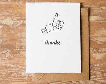 Thumbs Up Thanks Card