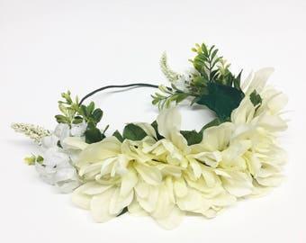 Ivory Delilah Flower Crown Halo