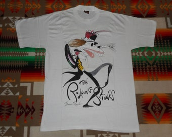 Deadstock Rolling Stones Voodoo Lounge Gerald Scarfe T Shirt Size XL