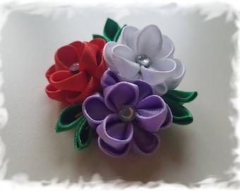 Handmade Kanzashi Flower Hair Clip
