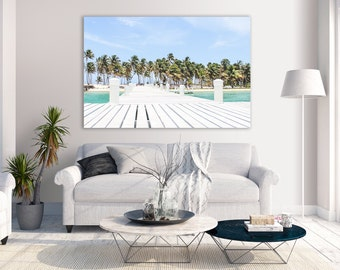 Dock at Half Moon Caye Belize, Lighthouse Reef Atoll, Caribbean Island & Beach Photography, Travel Photography, Landscape Wall Art