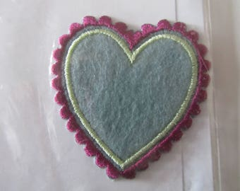 decals - sticker - embellishment for clothing of a heart