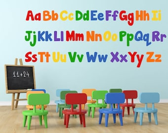 Wonderful Alphabet Wall Decals, ABC Wall Decals, Alphabet Wall Decor, Kids Room Wall  Decals