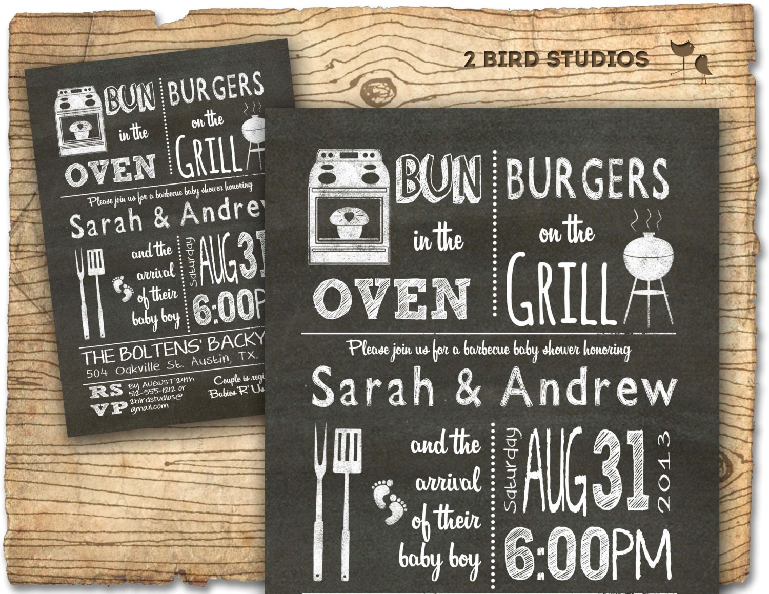 BBQ Baby shower invitation Baby Q bbq baby shower invite
