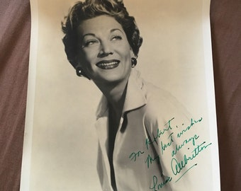 Very Rare Signed/Inscribed Photograph Of Louise Allbritton + Handwritten Letter
