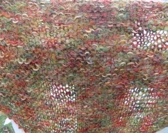 Fuzzy Autumn Harvest Shawl