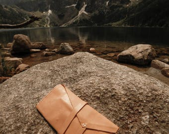 Beige tobacco pouch soft leather