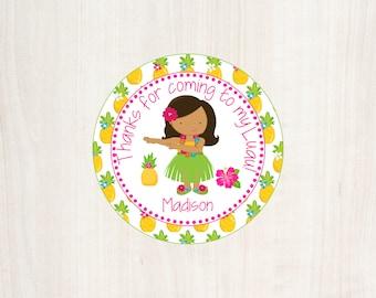 Printable Luau Party Favor Tag, Luau Birthday Party, Printable Luau, Printable Luau Tag, Luau Birthday, Hula Girl Favor Tag, Summer Party