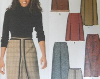 Skirt Sewing Pattern in 2 Lengths / Simplicity Pattern 9823/ Size 8-10-12-14/ Kick Pleats, Back Zipper,Fitted,Waist Darts,A-Line Skirt/Uncut