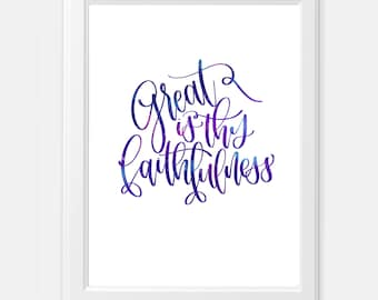 Great is Thy Faithfulness Galaxy Hymn Digital Print