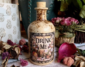 Alice in Wonderland Bottle. Alice in Wonderland Gift. Bottle. Drink Me Bottle. Mad Hatters Tea Party. Alice in Wonderland Decor. Drink Me.