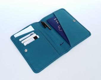 Passport holder, Blue Passport case, Passport Wallet, Passport Case, Blue passport wallet, Travel wallet