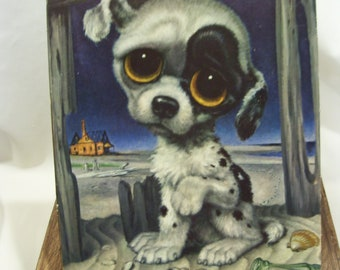 Pity Puppy Gig Artist Big Eyed Puppy Dog with Big Eyes Sad Dog Artist Girard Goodenow Litho Unframed Sad Eyes Puppy