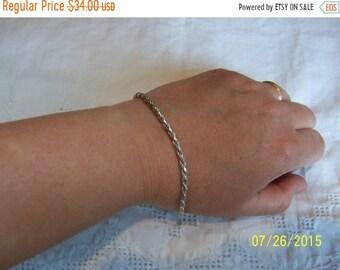 SUMMER SALE 20% OFF, Vintage Rope Bracelet. Sterling silver.