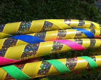 """Kids Handmade Hula Hoop - Children's Dance Hoop - Custom """"Molly and the Hoola Monsters"""" hoop"""
