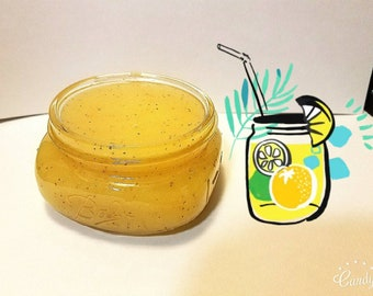 Lemon peel sugar scrub
