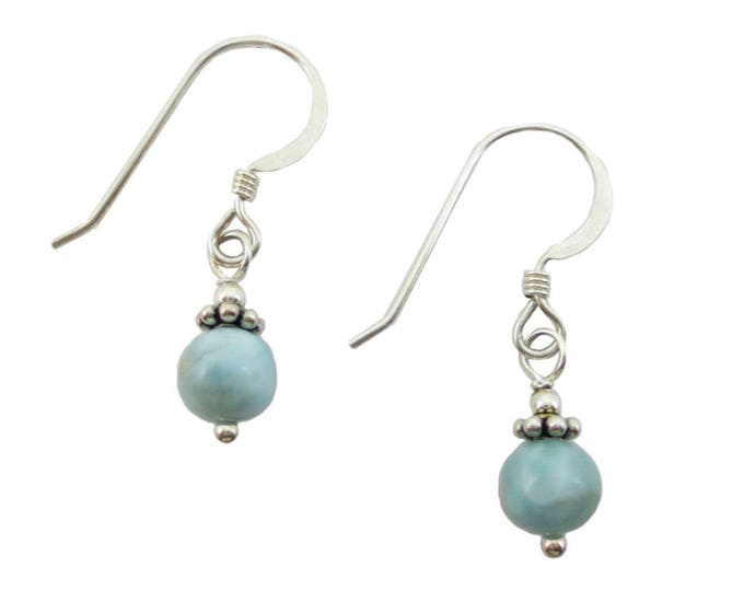 Sky Blue Larimar Drop Earrings