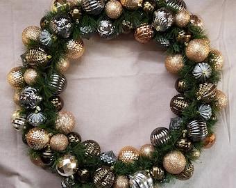 Copper Ornament Wreath
