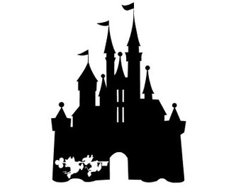 CINDERELLA'S CASTLE with Jaque and Gus Gus; Quality Vinyl Decal; Disney Yeti Decals, Disney Car Decals, Disney Addicts, Christmas Gifts!