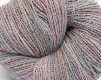 """Hand paint pure wool knitting yarn """"North"""", DK 3-ply worsted 100g/250m cake"""