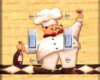 Fat Chef Light Switch Plate Cover Wall Kitchen