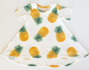 Newborn dress - baby girl clothes - pineapples - coming home outfit - infant dresses - girls dresses - baby clothes - tshirt dress