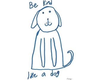 Izzy's T-Shirts for Kindness - Be Kind Like a Dog