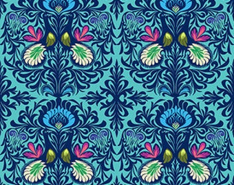 Amy Butler Fabric It Takes Two in Aqua, Soul Mate Collection, Choose your cut