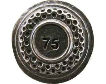Clay Target 1 25 75  ~ Lapel Pin/Brooch ~ A098C