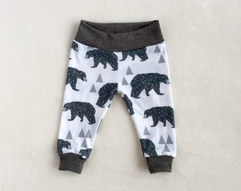 Geometric, Bear, Baby Leggings - Available in sizes preemie-18/24 months