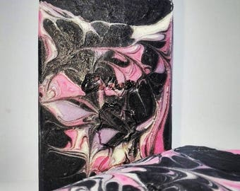 Black Lace, luxury soap, with activated charcoal and avocado oil